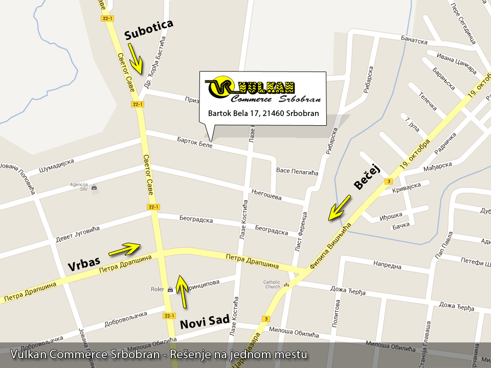 srbobran mapa Kontakt Vulkan commerce Srbobran | Vulkan Commerce srbobran mapa